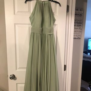 Dusty sage bridesmaid dress by azazie